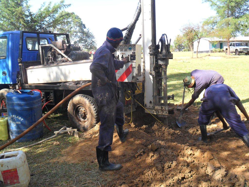 The Water Project : chepkemel-sec-school-drilling-3