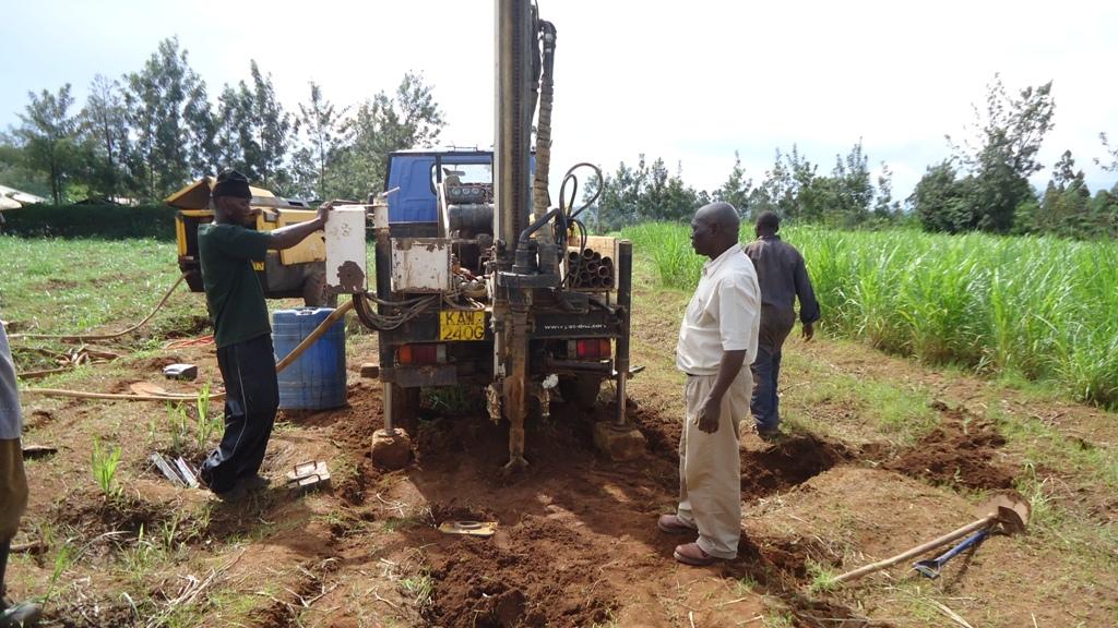The Water Project : drilling-eshibinga-community-3