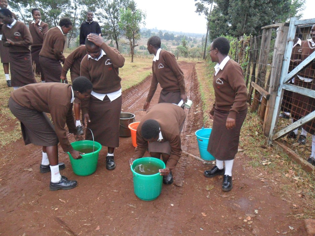 The Water Project : struggling-to-get-water-kositany-girls