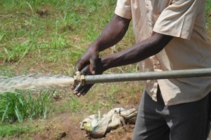 The Water Project : test-pumping-eshibinga-community-001