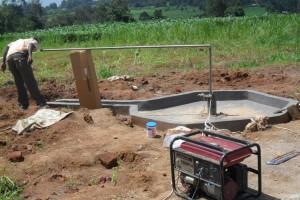 The Water Project : test-pumping-eshibinga-community