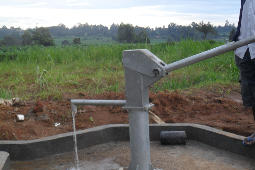 The Water Project : water-flowing-eshibinga-community-4