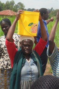 The Water Project : eshibinga-community-happy-women-from-the-new-source