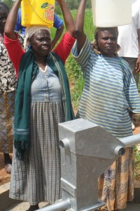 The Water Project : eshibinga-community-happy-women-from-the-source