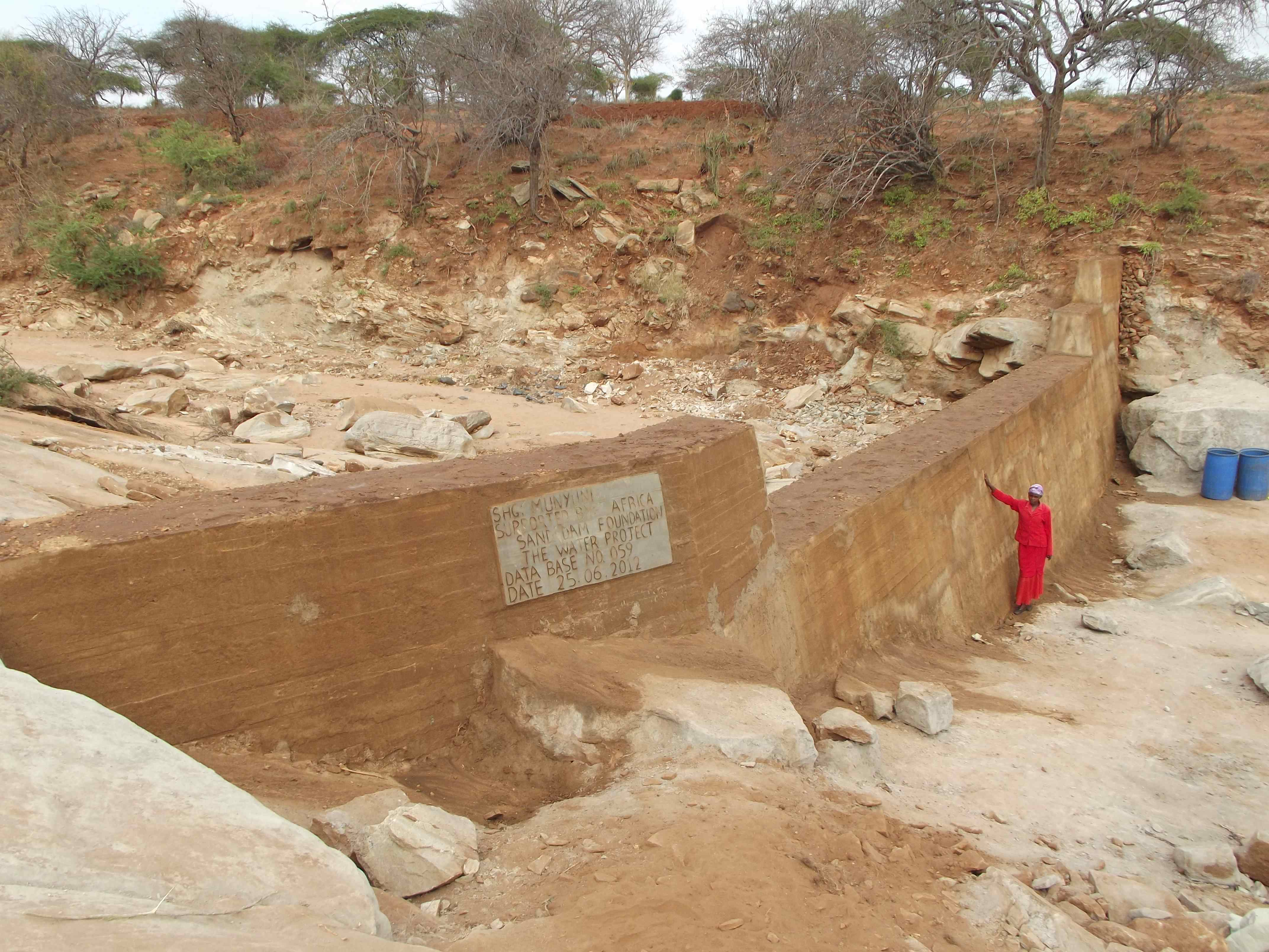 The Water Project : munyuni-shg-sand-dam-5