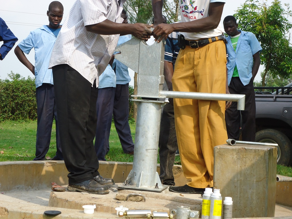 The Water Project : pump-installation-malaha-health-centre-001-2