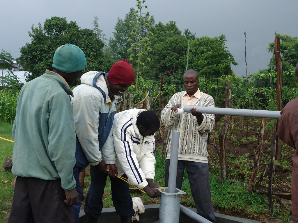 The Water Project : pump-installation-surungai-community-2