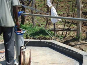 The Water Project : test-pumping-surungai-community-_1