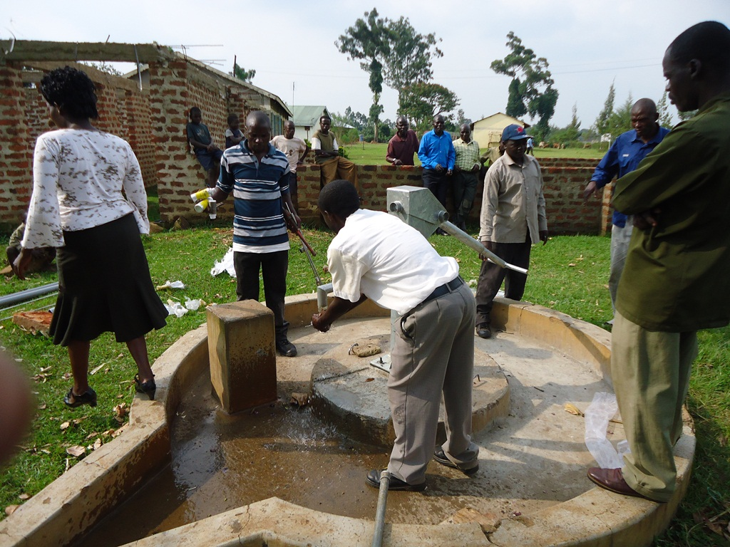 The Water Project : water-flowing-malaha-health-centre-2