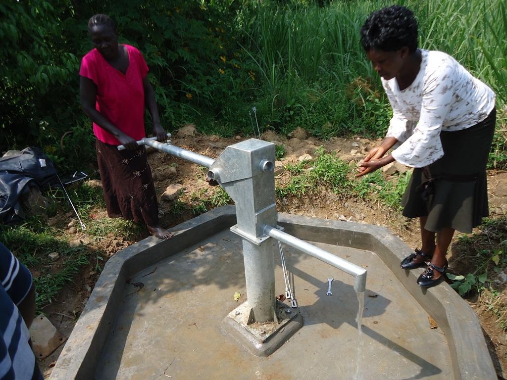 The Water Project : water-flowing-njirinya-self-help-group-3