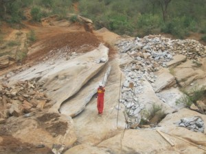 The Water Project : maiuni-shg-sand-dam-4-2