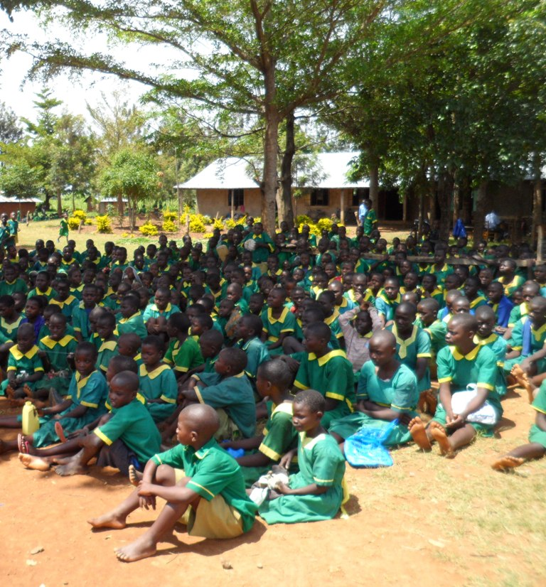 The Water Project : ekambara-primary-school-community-education-28-2