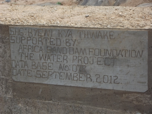 The Water Project : kyeni-kya-thwake-shg_sand-dam-12023-dlp_october-2012-3-2