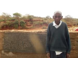 The Water Project : maiuni-sand-dam-shg_chairman-joshua-ndambuki_october-2012-11