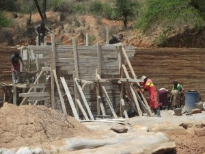 The Water Project : maiuni-sand-dam-shg_water-tank_october-2012-1