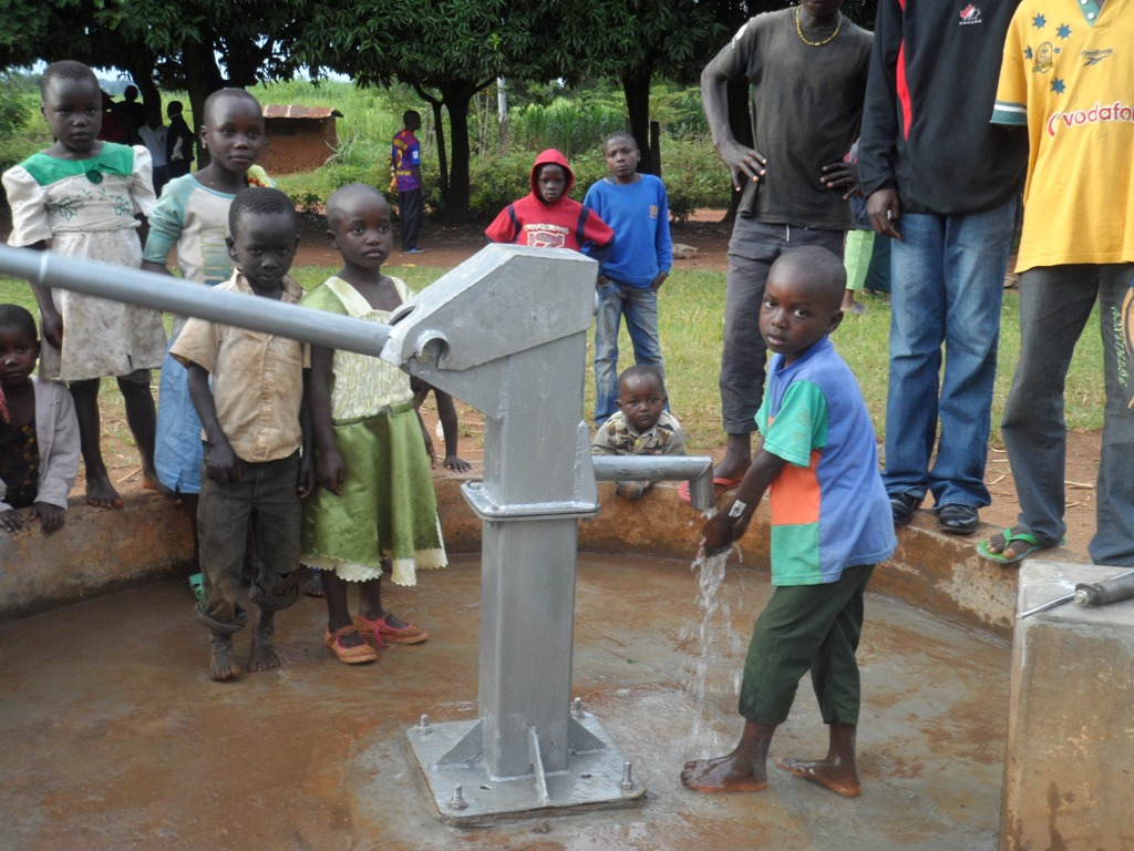 The Water Project : matawa-primary-school-water-flowing-3-2