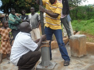 The Water Project : matawa-primary-school-pump-installation-1