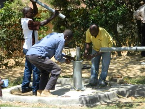 The Water Project : kenya4186_pump-installation_1