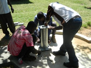 The Water Project : kenya4186_pump-installation_2