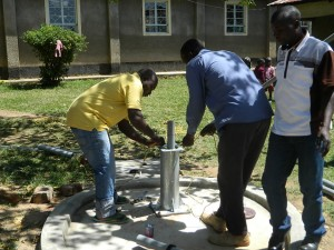 The Water Project : kenya4186_pump-installation_3
