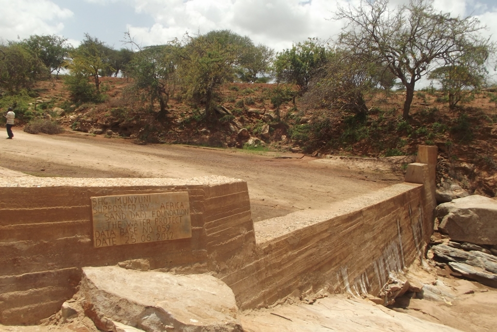The Water Project : kenya4022_sand-dam-filled-with-sand_january-2013-3