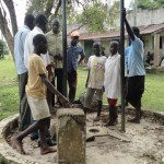 The Water Project: Kakemer Borehole Rehab -