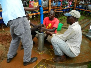 The Water Project : kenya4157_pump-installation_2