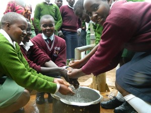 The Water Project : kenya4157-girls-at-their-well