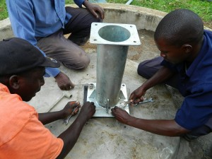 The Water Project : kenya4192-pump-installation-2