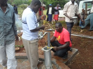 The Water Project : kenya4204-pump-installation-10
