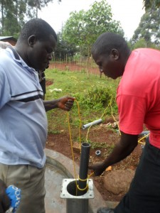 The Water Project : kenya4204-pump-installation-9