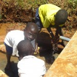 The Water Project: Nakhabale Spring Catchment Project -