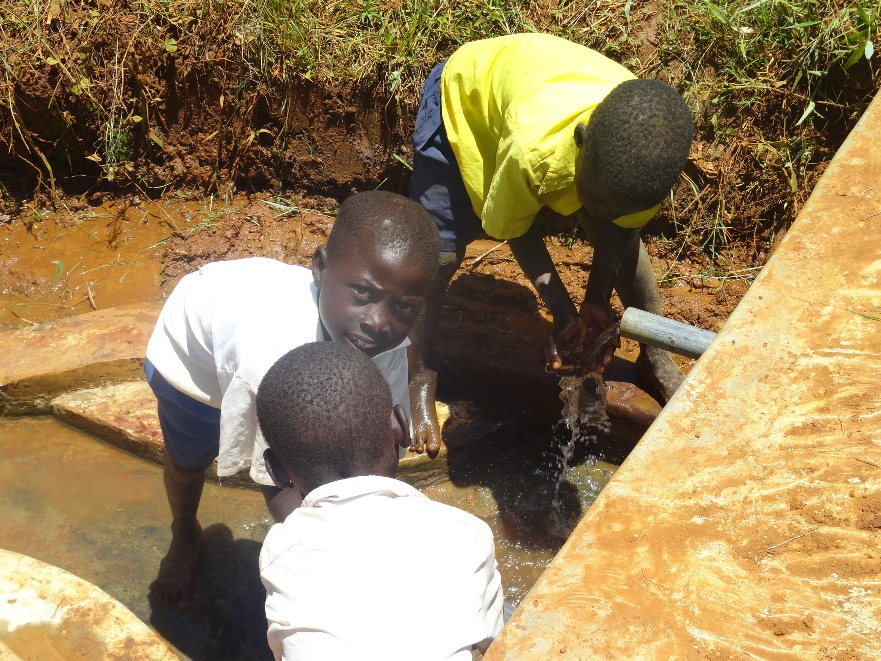The Water Project : kenya4116-nakhabale-spring-4