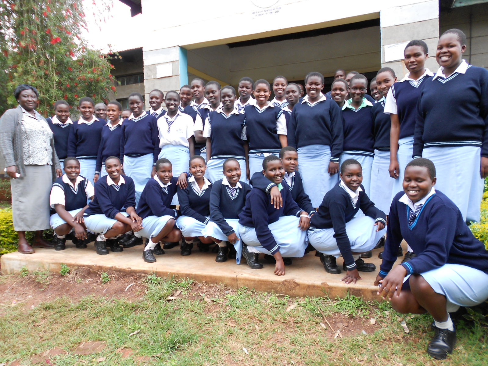 The Water Project : kenya4218-school-girls-2