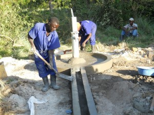 The Water Project : uganda6036-pad-construction