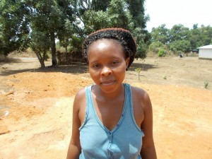 M'Balu S. - Petty Trader, discussing her newly donated water project in Sierra Leone