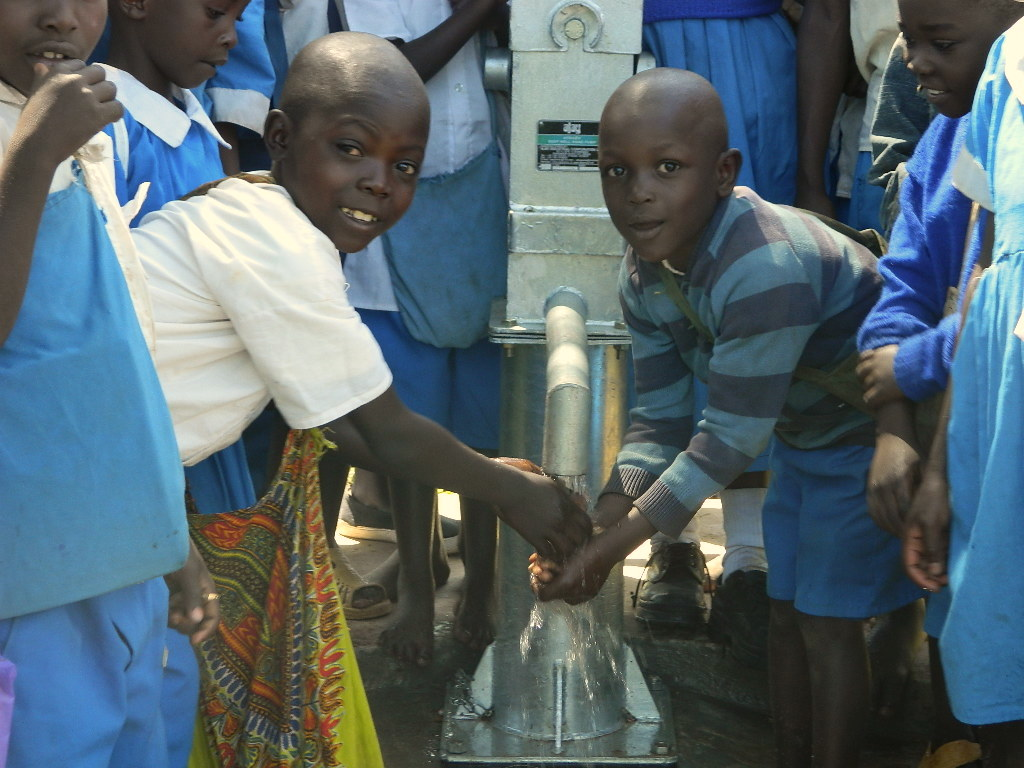 The Water Project : kenya4163-51-these-boys-were-all-happy-to-have-water
