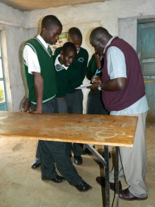 The Water Project : kenya4221-05-group-interview-by-makongo-at-tulon-sec-school