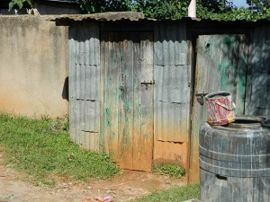 The Water Project : kenya4221-08-part-of-the-toilets-at-tulon-school