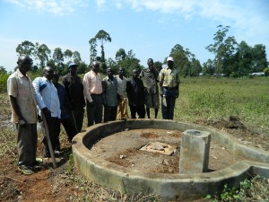 The Water Project : kenya4248-03-some-of-the-community-members-of-imakale-water-committee