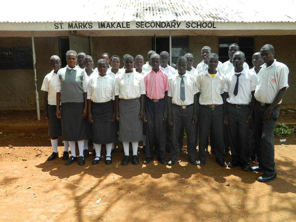 The Water Project : kenya4248-04-students-of-st-marks-imakale-secondary-school