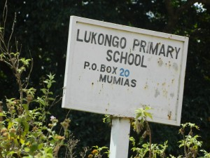 The Water Project : kenya4245-06-lukongo-primary-school-sign-post