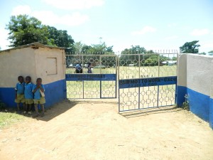 The Water Project : kenya4245-09-the-school-gate-of-lukongo-primary-school