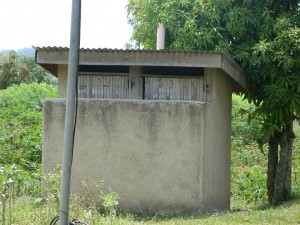 The Water Project : kenya4252-01-latrines-at-the-police-base