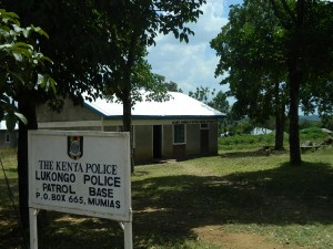 The Water Project : kenya4252-04-lukongo-police-base-sign-post
