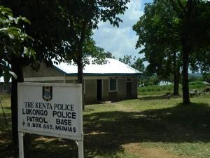 Kenya4252 04 Lukongo Police Base-sign post