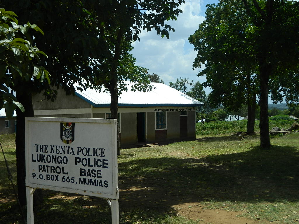 The Water Project : kenya4252-04-lukongo-police-base-sign-post-2