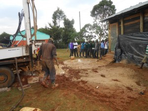 The Water Project : kenya4221-13-drilling-of-tulon-secondary-school-water-project