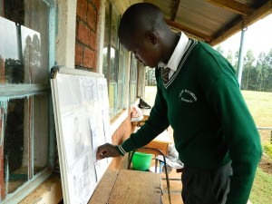 The Water Project : kenya4221-19-tulon-school-student-voting-in-the-pocket-chart
