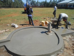 The Water Project : kenya4221-23-tulon-secondary-school-pad-construction